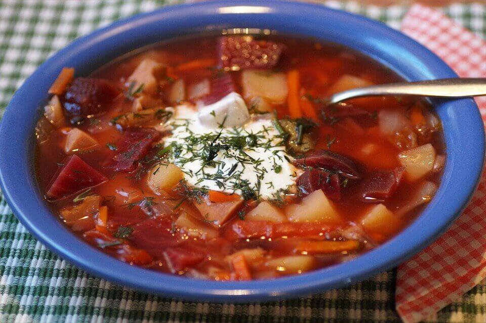 вегетарианский борщ рецепт