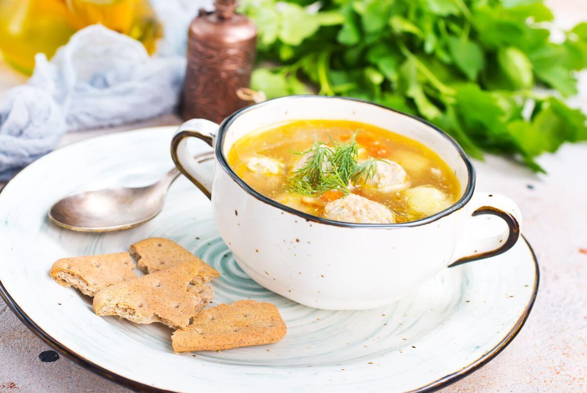 суп +с макаронами для ребенка