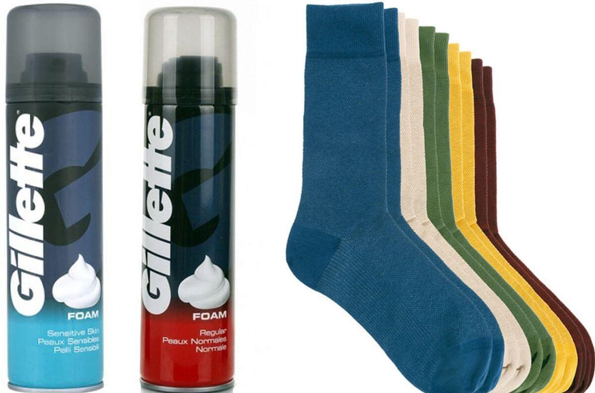 носки и пена для бритья