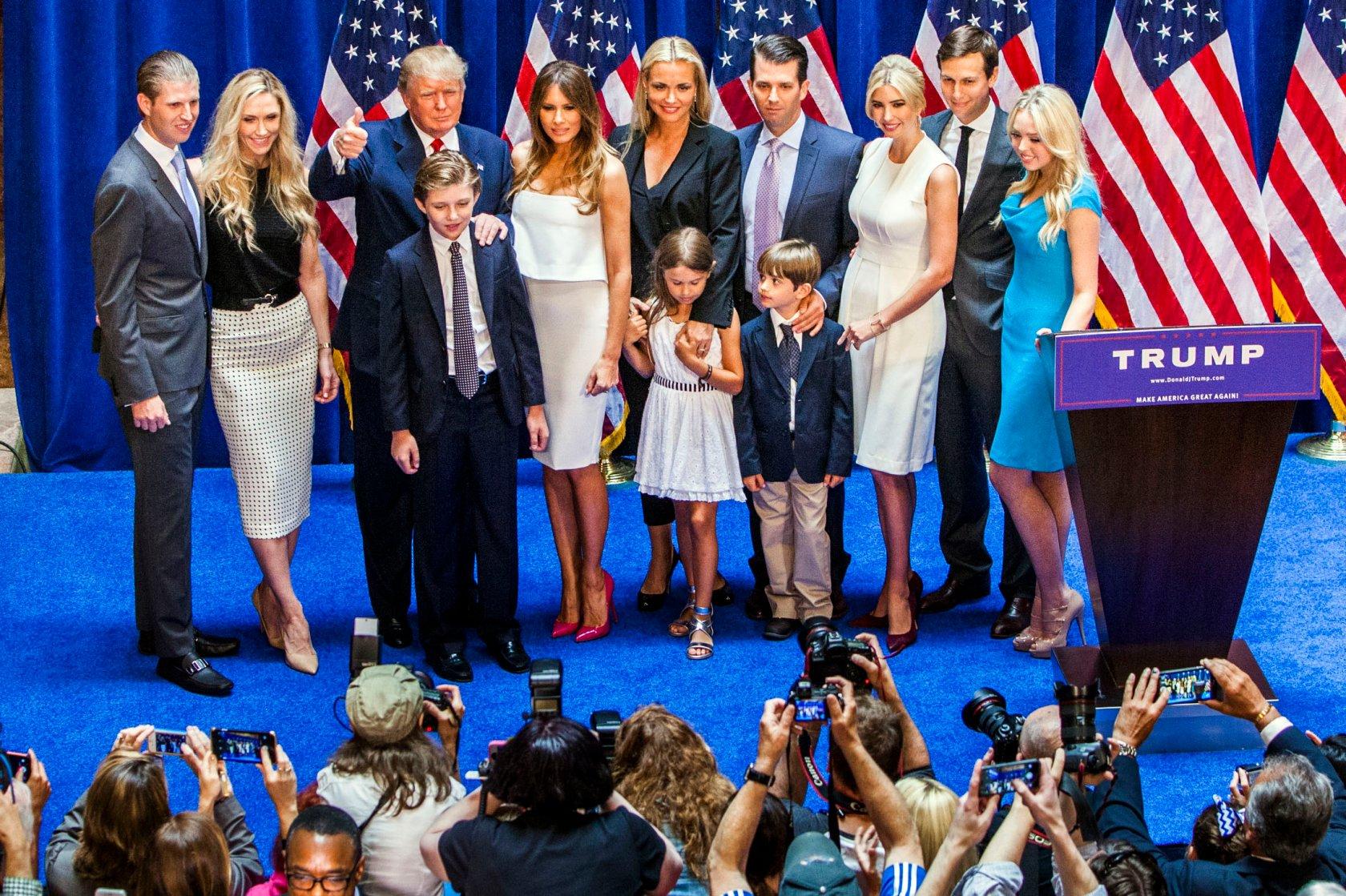 дети трампа фото