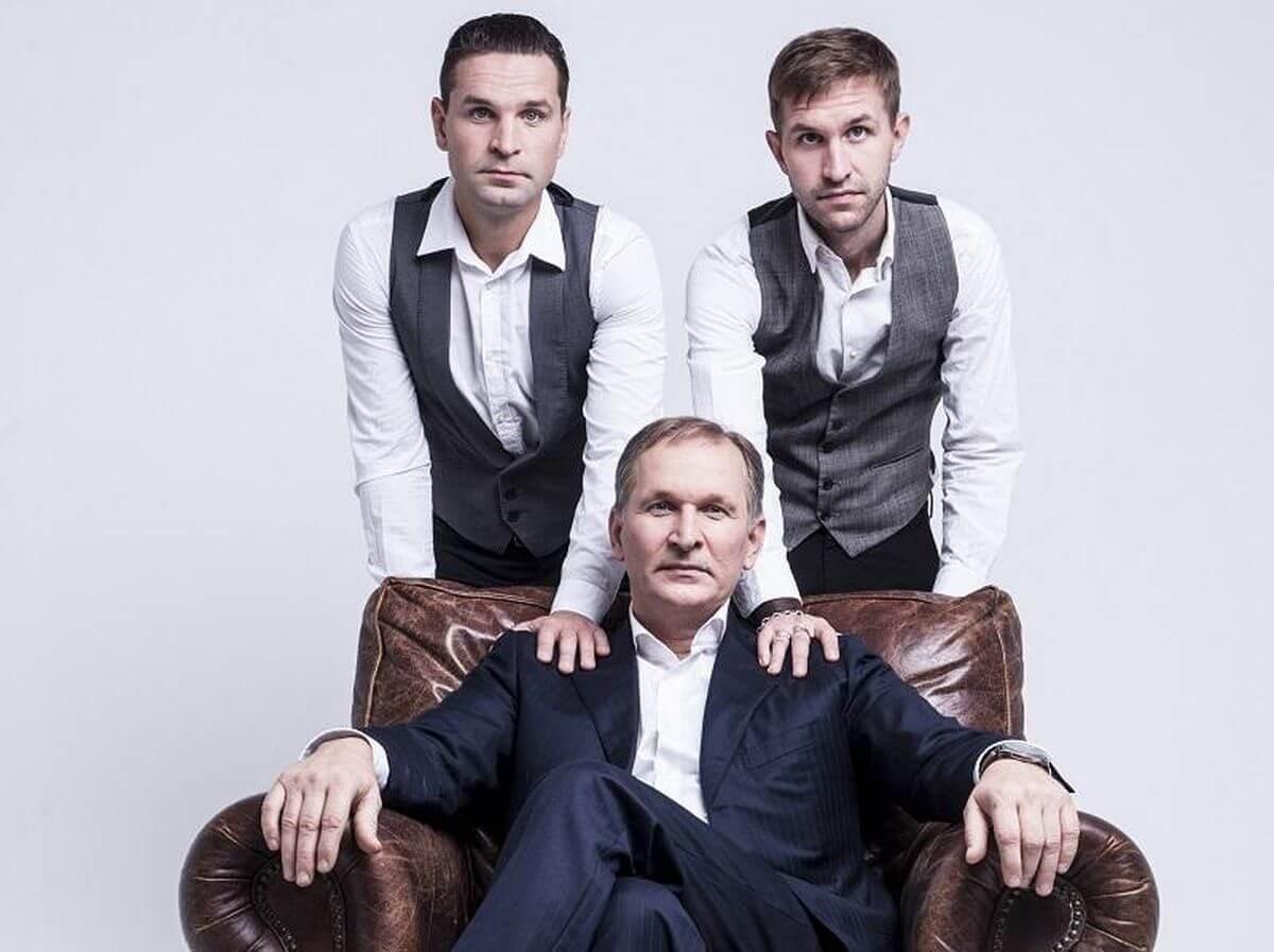 Федор Добронравов и его сыновья