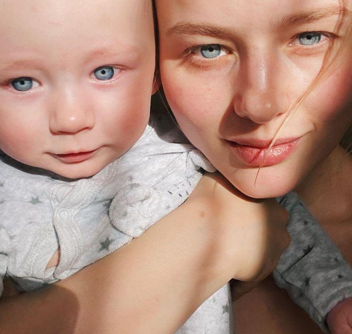 саша бортич фото с малышом
