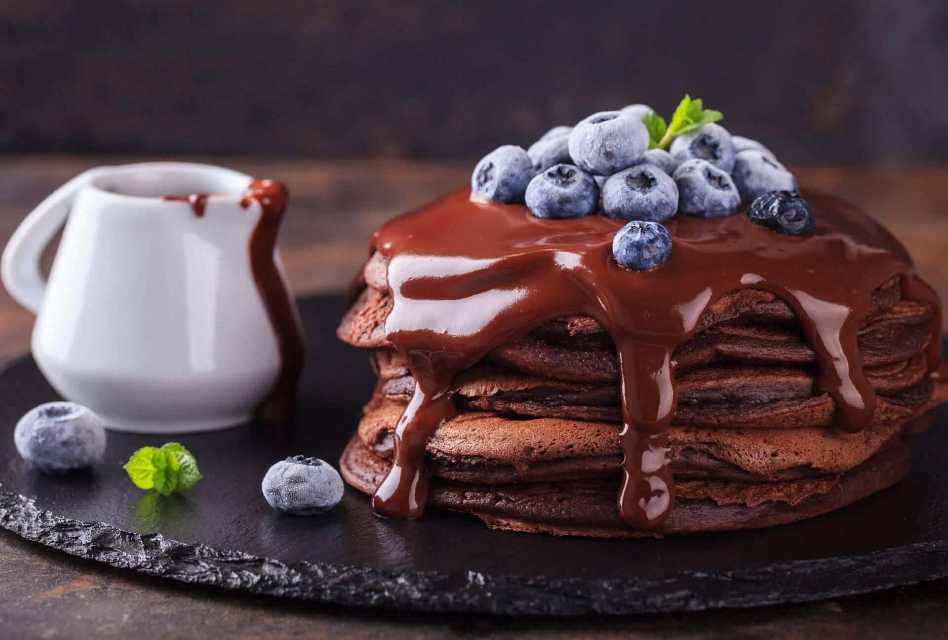 панкейки шоколадное наслаждение