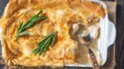 куриный пирог со сливками и сыром